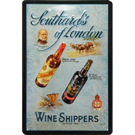 Pour votre Décoration intérieure cette plaque publicitaire 20x30 cm bombée en relief Wine Shippers