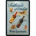 Plaque métal publicitaire 20x30 cm bombée en relief : Wine Shippers