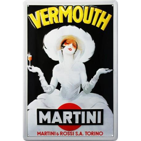 Pour votre Décoration intérieure cette plaque publicitaire 20x30 cm bombée en relief Martini