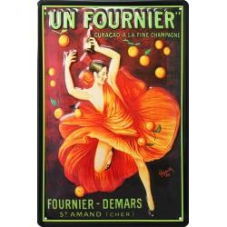 Plaque métal publicitaire 20x30cm bombée en relief : Apéritif Fournier Demars.