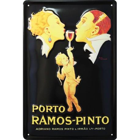 plaque publicitaire 20x30cm  bombée en relief apéritif Porto Ramos-Pinto