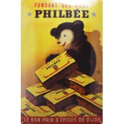 plaque publicitaire 20x30cm bombée CADET fromage frais.