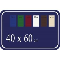 Plaque de Rue émaillée 60x40cm arrondie plate 4 trous