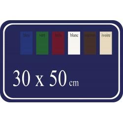 Plaque de Rue émaillée 50x30cm arrondie plate 4 trou