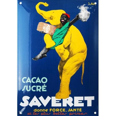 plaque émaillée bombée 25 x 35 cm Cacao SAVERET.
