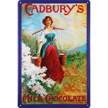 plaque publicitaire 20x30cm  bombée et en relief cadbury's Milk Chocolate