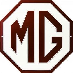 Plaque émaillée plate octogonale MG diam : 30 cm