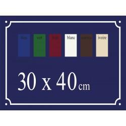 Plaque de Rue émaillée 30 x 40 cm plan