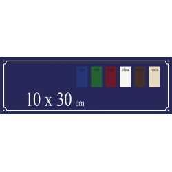 Plaque de Rue émaillée 10 x 30 cm plan