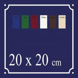 Plaque de Rue émaillée 20 x 20 cm plan