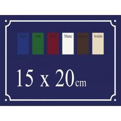Plaque de Rue émaillée 15 x 20 cm plane.