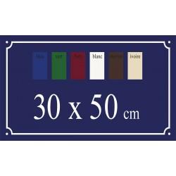 Plaque de Rue émaillée 30 x 50 cm plan