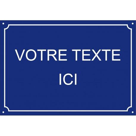 Plaque de Rue émaillée 35 x 50 cm plan
