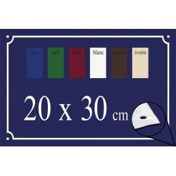 Plaque de Rue émaillée 20x30cm bords biseautés