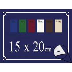 Plaque de Rue émaillée 15x20cm bords biseautés
