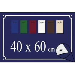 Plaque de Rue émaillée 60x40cm bords biseautés