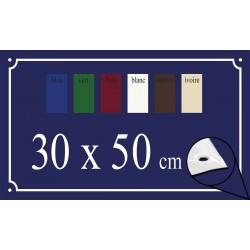 Plaque de Rue émaillée 30x50cm bords biseautés